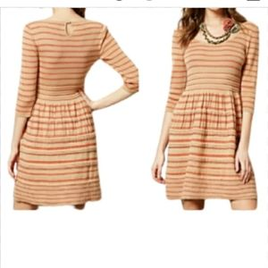 KNITTED & KNOTTED ANTHROPOLOGIE FIT & FLARE DRESS